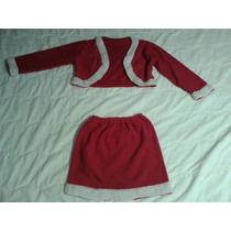 1 Juegos Falda Abrigo Navidad Disfraz Mujer Santa Sexy Dj