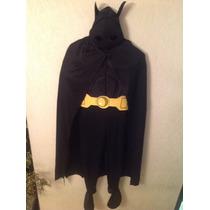 Disfraz Batman Talla 10/12 Nuevo Traje Mascara Capa Botas