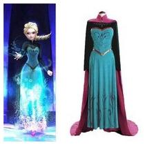Disfraz Frozen Adulto Princesa Elsa Ana Vestido Niña Disney