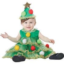 Disfraz Arbol De Navidad Bebe Duende Santa Mono Nieve