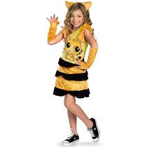 Disfraz Niña Tigre Gato Petshop Talla 4 A 6 Años + Regalo
