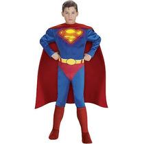 Disfraz Superman Niño Talla Mediano 8 Años + Regalo