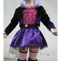 Disfraz Traje Estilo Clawdeen Loba Monster High C/accesorios