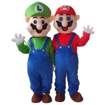 Botarga Disfraz Traje Tamaño Adulto Super Mario Bros Y Luigi