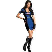 Disfraz Carreras Sexy Mujer Carro Hot Wheels Talla Chica 4/6