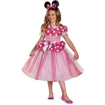 Disfraz Minnie Mouse Mimi Niña Vestido Rosa Talla 8 A 10