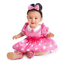 Disfraz Minnie Mimi Bebe Rosa Zapatos Orejas Disney Original