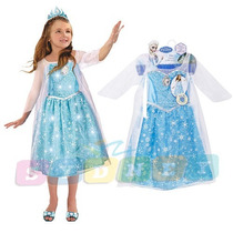 Disney Frozen Vestido Elsa Musical Con Luces