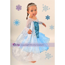 Vestido Disfraz De Elsa Frozen