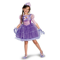 Disfraz Disney Rapunzel Princesa Vestido Tutu Lujo Talla 4/6