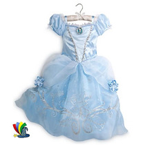 Disfraz Vestido Cenicienta Talla 5/6 Original Disney Store