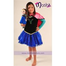 Vestido Disfraz De Princesa Anna Frozen