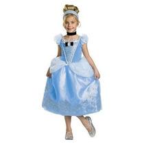Disfraz Disney Cenicienta Niña Talla 4 A 6 Años + Regalo