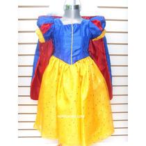 Vestido Princesa Disfraz Blanca Nieves Regalo Disfraces Niña