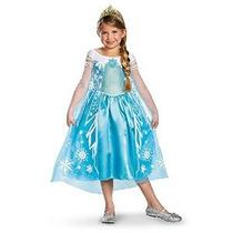 Disfraz De Frozen Elsa Deluxe Chica Disney Disfraz 4-6x
