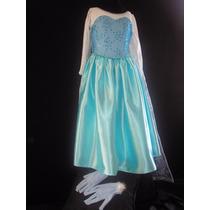Disfraz De Lujo Vestido Princesa Elsa Envio Gratis