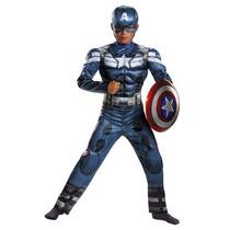 Disfraz De Capitan America 2 Para Niños, Envio Gratis