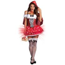 Disfraz De Caperucita Roja Con Luz Para Damas, Envio Gratis