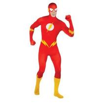 Disfraz De Flash, Segunda Piel, Bodysuit Para Adultos