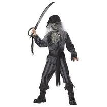 Disfraz De Pirata Zombie Para Niños, Envio Gratis