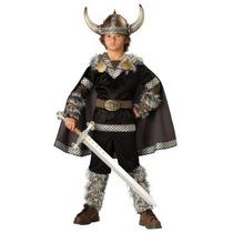 Disfraz De Rey Vikingo, Guerrero Para Niños, Envio Gratis