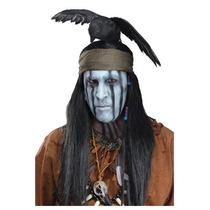 Peluca Toro, Indigena, Indio, Apache P/ Caballeros, Adultos
