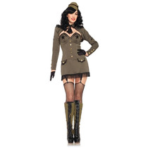 Disfraz Pin Up Army Adulto Mujer Halloween Sexy Militar
