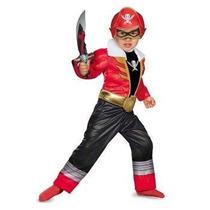 Disfraz De Power Ranger Super Megaforce Rojo Para Niños