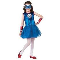 Disfraz De Capitan America Para Niñas, Envio Gratis