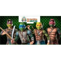 Disfraz Tortugas Ninja Original Tallas 4/6, 7/8 Y 10/12 Años