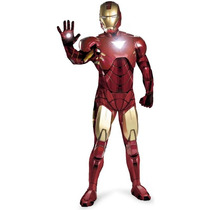 Disfraz Iron Man Adulto Edición De Lujo Con Armadura
