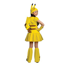 Disfraz Pikachu Ninas Pokemon Anime Halloween Fiesta Importa