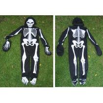 Disfraz Esqueleto Adulto Y Niños!! Padrisimo Con Mascara!!