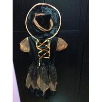 Disfraz De Brujita Para Niña Talla G 10-12