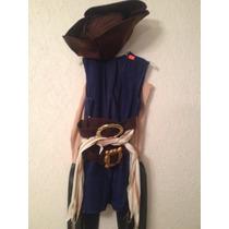 Disfraz Pirata Niño Niña Talla 6/8 Nuevo Con Accesorios Orig