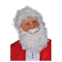 Mascara Con Peluca Y Barba De Santa Claus Para Navidad