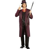 Traje Disfraz Willie Wonka Charlie Y La Fabrica De Chocolate