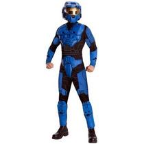 Disfraz De Halo Azul Para Adultos Envio Gratis