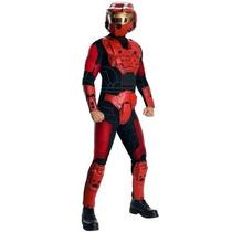 Disfraz De Halo Rojo Para Adultos Envio Gratis