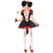 Disfraz De Reina Roja De Alicia Para Damas, Envio Gratis
