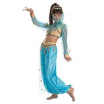 Disfraz De Bella Genio, Princesa Jasmine Aladino Para Niñas
