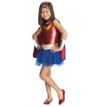 Disfraz De Mujer Maravilla Para Niñas, Envio Gratis