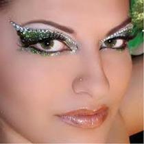 #1 Delineador Cuentas Cristal Ojos Maquillaje Sombras