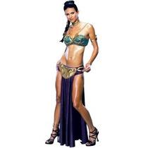 Disfraz De Princesa Leia Esclava Star Wars Para Damas