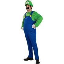 Disfraz De Luigi De Mario Bros, Para Adultos, Envio Gratis