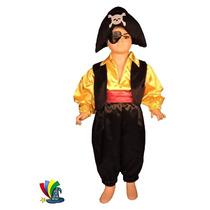 Disfraz Halloween Pirata De Gala Niño Talla 6