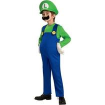 Disfraz De Luigi De Mario Bros Para Niños, Envio Gratis