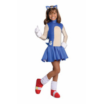 Disfraz Sonic Hedgehog Para Niña Talla 12-14 Nuevo Original