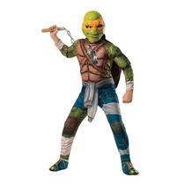 Disfraz Tortugas Ninja Miguel Angel 7/8 Años Entrega Inmedia