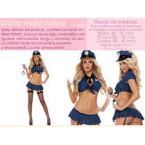 Disfraz Halloween Mujer Policía Sexy Table Pole Dance Fiesta